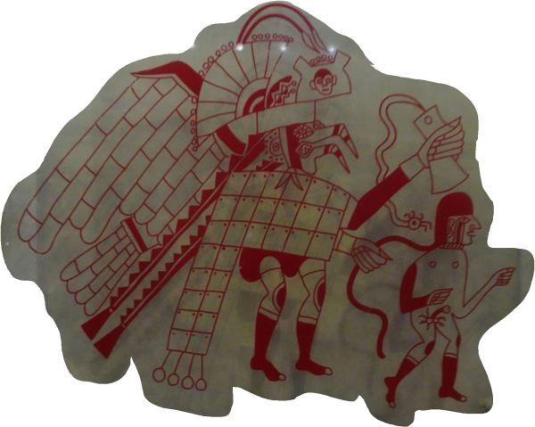El sacrificio. Ilustración cerámica. Museo Cao