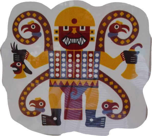 Iconografía del dios decapitador. Reconstrucción.