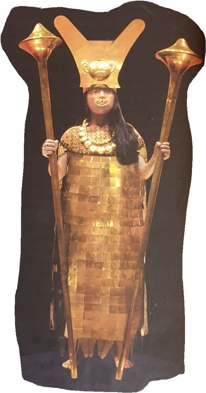 Representación de la dama de Cao (Museo del sitio)