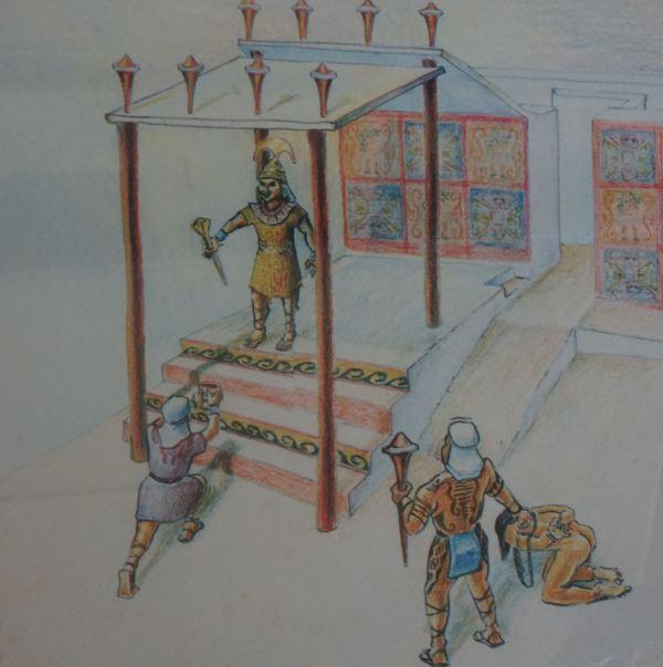 Recreación de la ofrenda de la sangre del prisionero