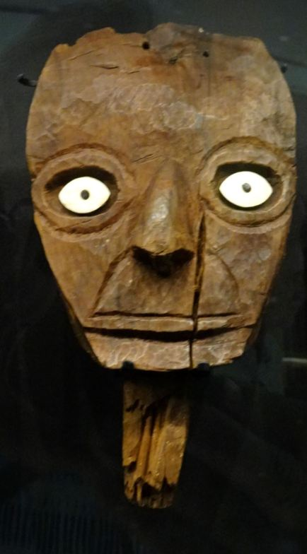 Falsa cabeza mortuoria (ss.VII a XII d.C.), Museo del sitio de Pachacamac.