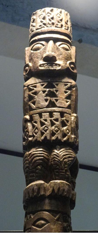 Museo de Pachacamac. El ídolo bifronte. Detalle. Foto R.Puig