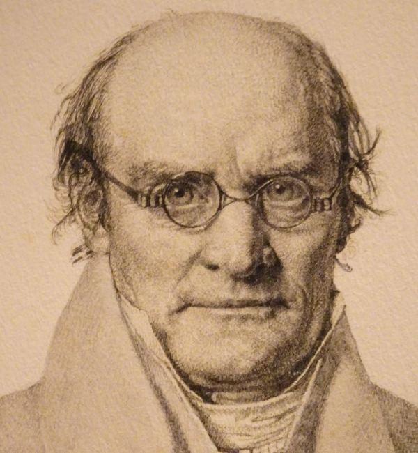 Christen Købke. Profesor Frederik Christian Sibbern, 1833. Detalle. MN. Copenhague.