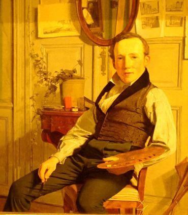 Christen Kobke. El pintor paisajista Frederik Sodring. 1832. Colección Hirschprungske. Copenhagen.