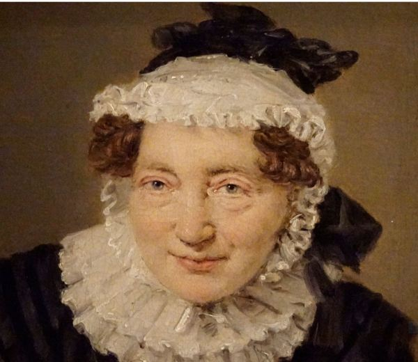 Christian Albrecht Jensen. La profesora Elisabeth Christine Sophie Horrewob,1826. Museo Nacional de Arte de Estocolmo.