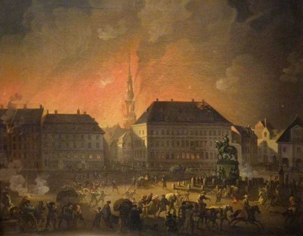 Christian August Lorentzen. La noche más terrible,1807-1808. M.N.Copenhague