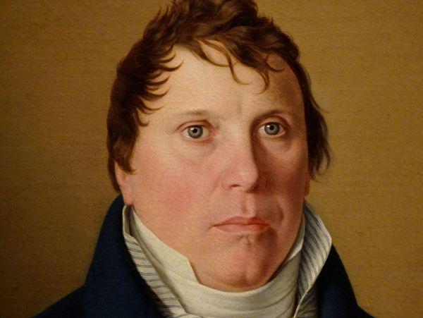 Christoffer Wilhem Eckersberg. El gobernador Lund. Detalle. Museo Nacional de Arte de EStocolmo.