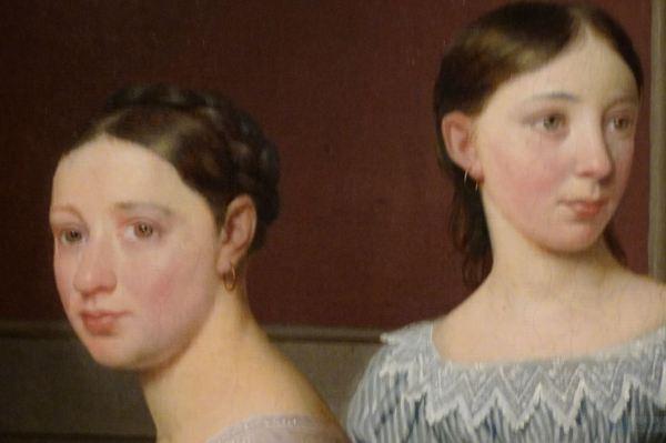 Christoffer Wilhem Eckersberg. La familia Nathanson, 1818, detalle. Museo Nacional de Arte de Copenhague