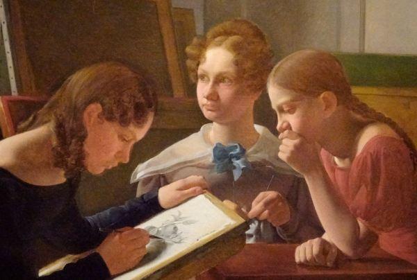 Constantin Hansen. Las hermanas del artista, 1827. Detalle. M.N.Copenhague. Foto R.Puig