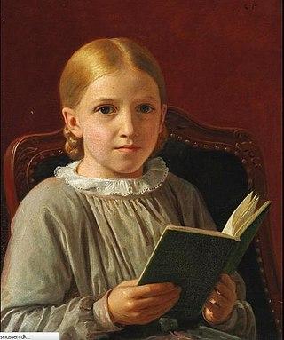 Constantin Hansen. Retrato de su hija Elise. Colección particular. Foto Wikipedia.