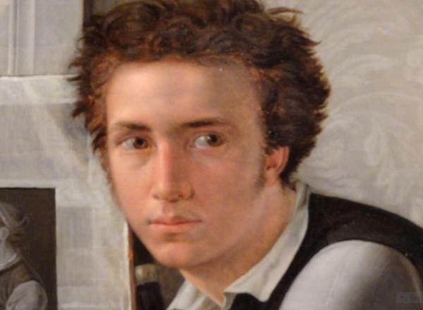 Ditlev Blunck. El grabador Carl Edvard Soonne, 1826, detalle. Museo Nacional de Arte. Copenhague.
