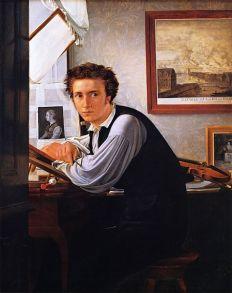 Ditlev Blunck. El grabador Carl Edvard Soonne, 1826. Museo Nacional de Arte. Copenhague.