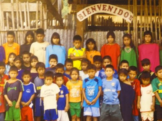 Niños de la comunidad Asháninka. Lugar de la Memoria. Lima Memoria. Lima