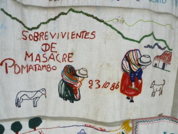 Bordado anónimo. Lugar de la Memoria. Lima. Foto R.Puig