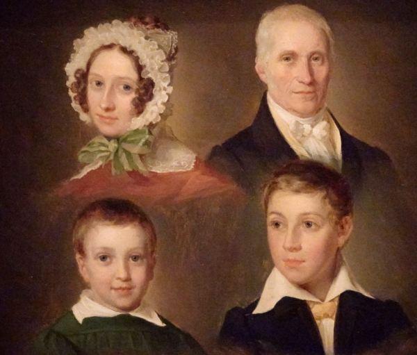 Emilius Ditlev Bærentzen. Familia del artista, 1830. Museo Nacional de Arte de Copenhagen..