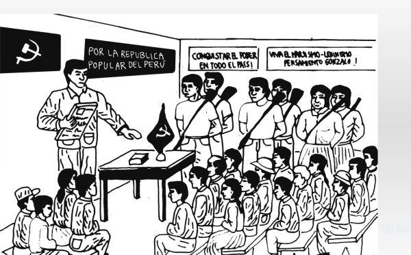 Dibujo propagandístico. Lugar de la Memoria. Lima