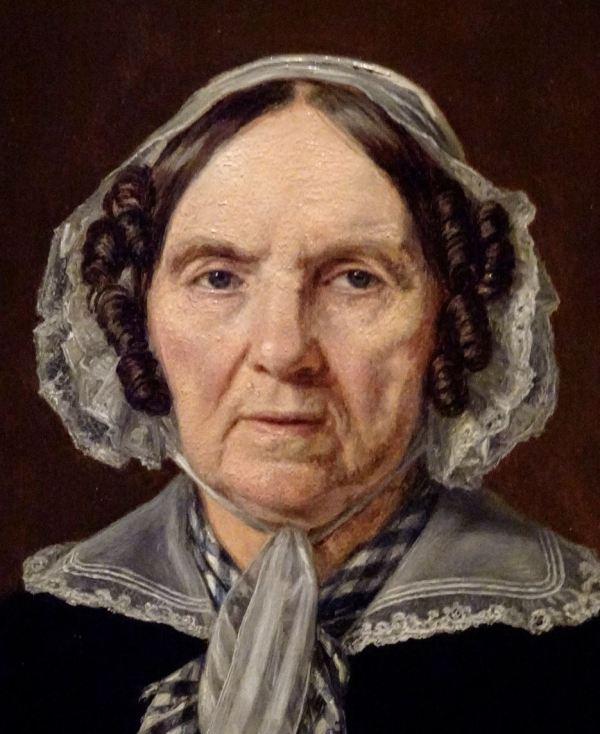 Martinus Rørbye. La madre del artista, 1848, detalle. M.N. Estocolmo. Foto R.Puig