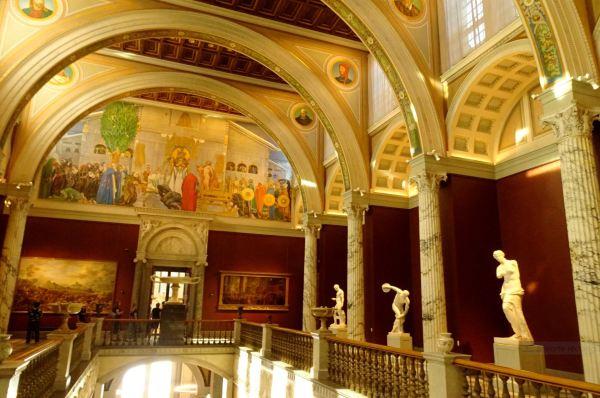 Museo Nacional. Estocolmo. Acceso a la segunda planta. Foto R.Puig