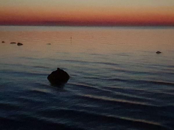 Båstad. La roca y la noche. Foto R.Puig