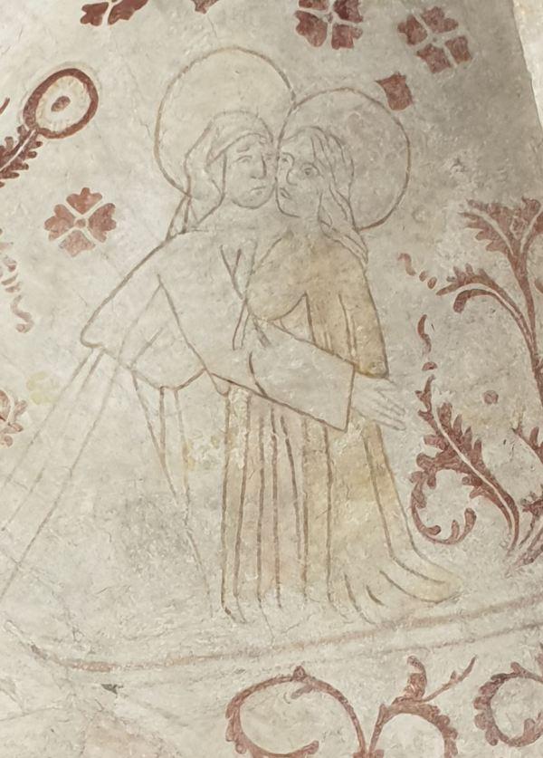 Båstad. Santa Isabel y la Virgen se abrazan. Foto R.Puig.