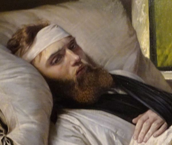 Elisabet Jerichau-Baumann. Soldado danés herido.1865. Detalle. Museo Nacional de Arte. Copenhagen