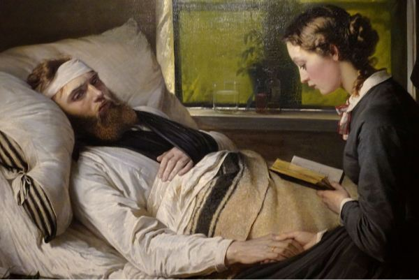 Elisabet Jerichau-Baumann. Soldado danés herido.1865. M.N.Copenhagen