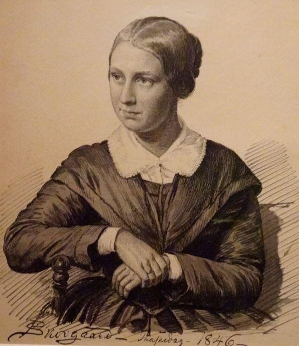 Peter Christian Skovgaard. Retrato de Meta Boisen, 1846. Museo Nacional de Arte. Copenhagen.