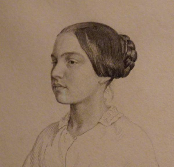 Peter Christian Skovgaard. Retrato de una joven, 1849.Detalle. Museo Nacional de Arte. Copenhagen.