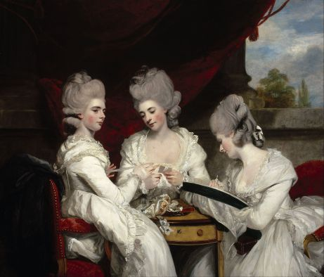 Reynolds, 1780, The Ladies Waldegrave, National Galleries of Scotland.