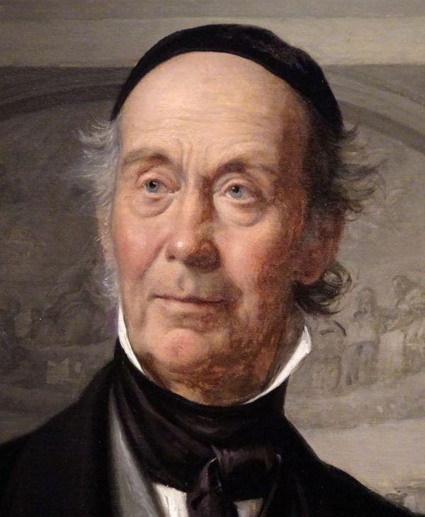 Wilhelm Marstrand. El profesor de Historia Niels Lauritz Hoyen, 1868. detalle. M.N.Copenhagen. Foto R.Puig