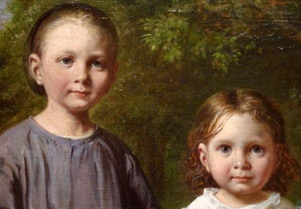Wilhelm Marstrand. Las hijas del artista, 1865. detalle. M.N. Estocolmo