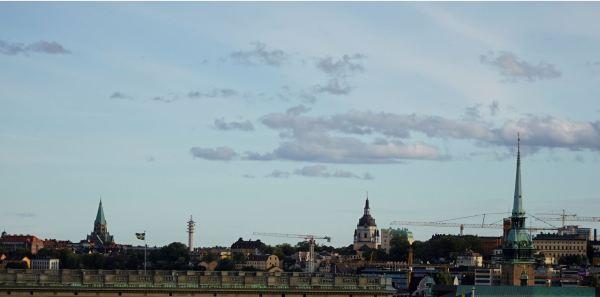 Cielo de setiembre en Estocolmo. Foto R.Puig