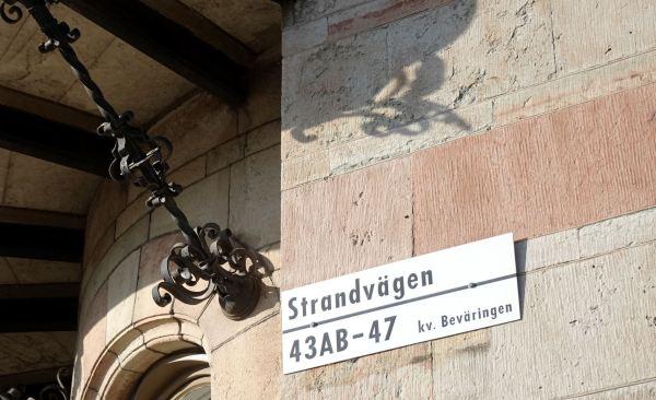 La piedra en Strandvägen, Estocolmo.Foto R.Puig