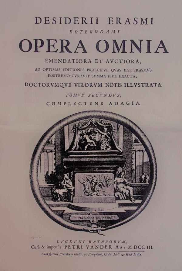 Opera Omnia de Erasmo. Leyden 1703. Foto R.Puig