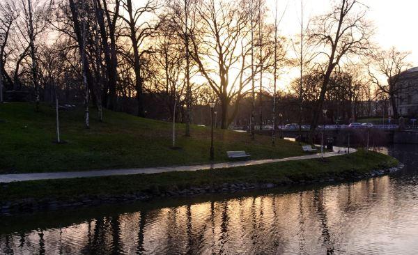 Anochecer invernal en Gotemburgo Foto R.Puig