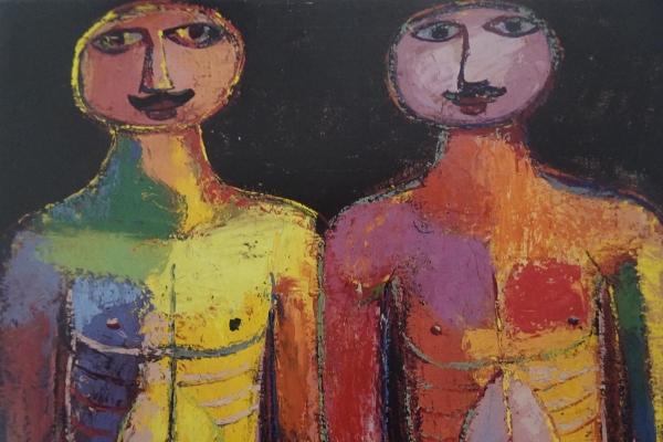 Dubuffet. Dos escoltas. 1943. Fuente Centro Pompidou 2011