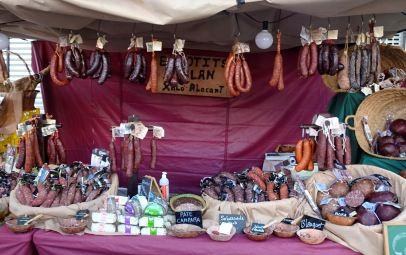 Gastronomía ibérica en la feria de Ondara. Foto R.Puig