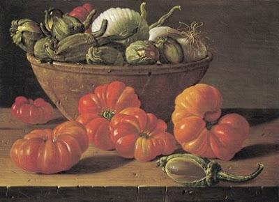 Luis Meléndez bodegon con tomates. Museo del Prado