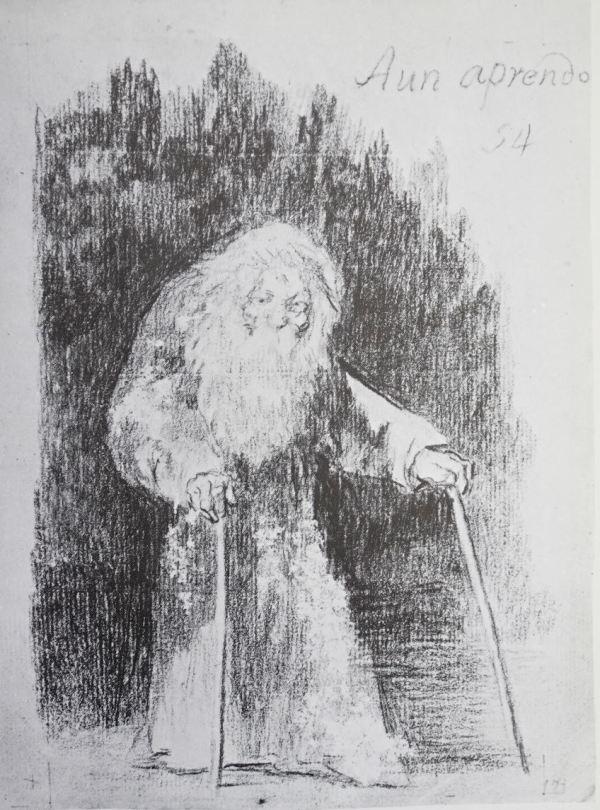 """Goya. """"Aun aprendo"""". Dibujo a lápiz,1825"""