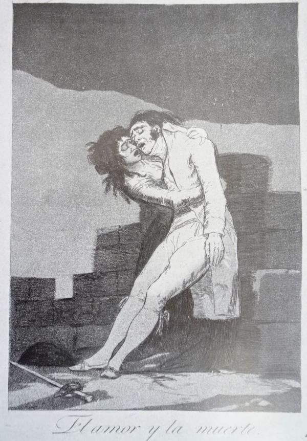 Goya. El amor y la muerte. Grabado de los Caprichos h.1799