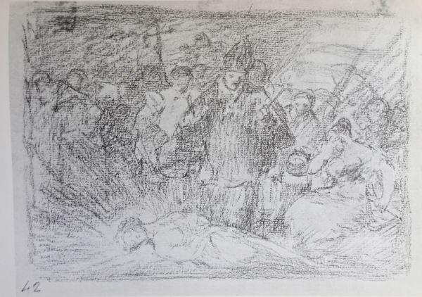 Goya. Murio la verdad. Dibujo para Desastres de la guerra. h.1808 -1809