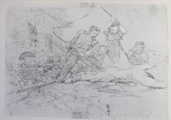 Goya. Populacho. Dibujo para Desastres de la guerra. h.1808 -1809