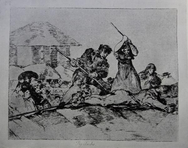 Goya. Populacho. Grabado de los Desastres de la guerra. h.1808 a 1809