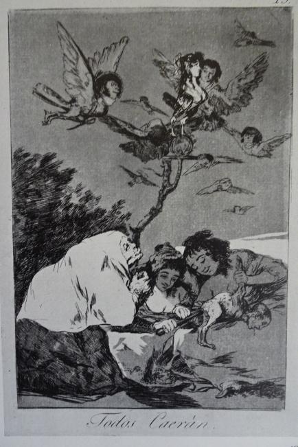 Goya. Todos caerán. Grabado de los Caprichos, h.1797