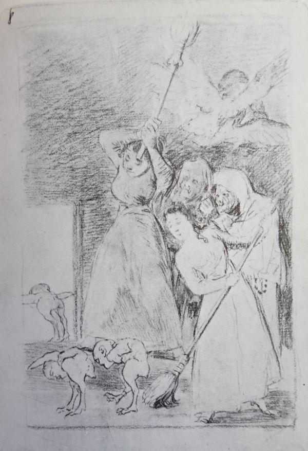 Goya. Ya van desplumados. Dibujo para los Caprichos. h.1797