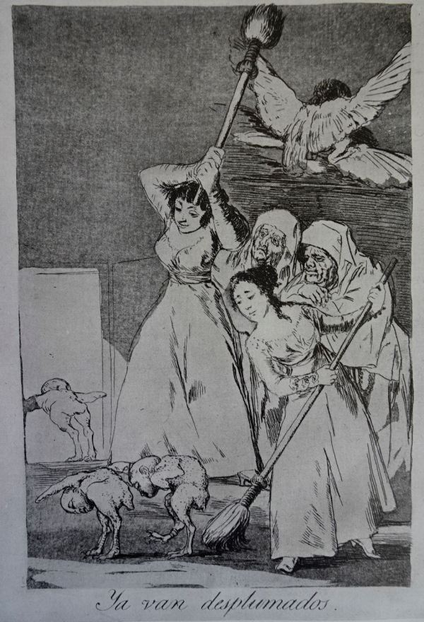 Goya. Ya van desplumados. Grabado h.1797