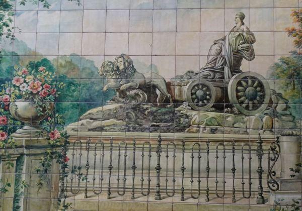 Mural de azulejos. Restaurante Viila Rosa. Foto R.Puig