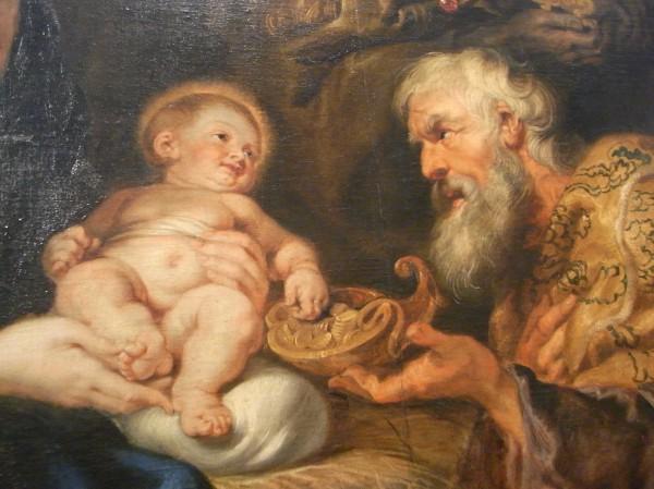 Rubens. Detalle de adoracion de los reyes magos.Museo de Bellas Artes. Gotemburgo. Foto R.Puig