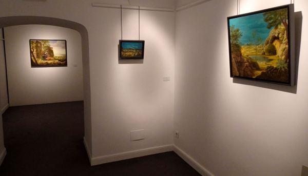 """Aspecto de la muestra """"Doce Amaneceres"""" de JUan Carlos Savater en la Galería Leandro Navarro"""