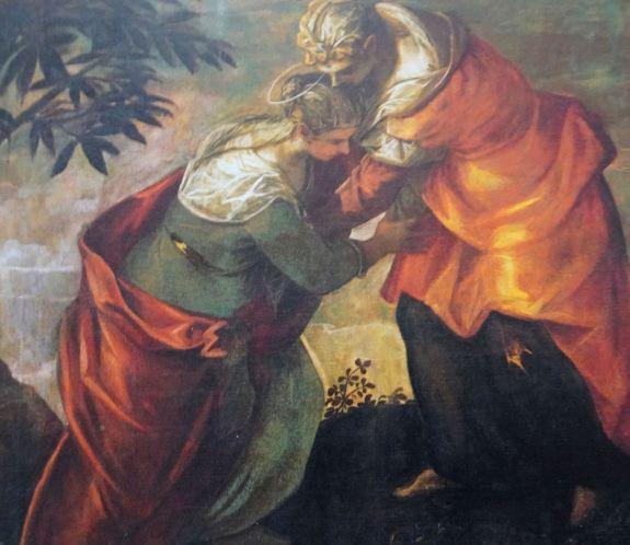 Tintoretto. La visitación. Scuola Grande di San Rocco. Detalle.
